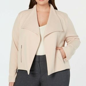 CK Plus Size Wing-Collar Texture Jacket, Size 2X
